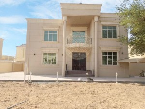 SPECTACULAR INDEPENDENT 5 MASTER BEDROOM VILLA WITH DRIVER ROOM & BIG HOSH FOR RENT IN KHALIFA CITY A